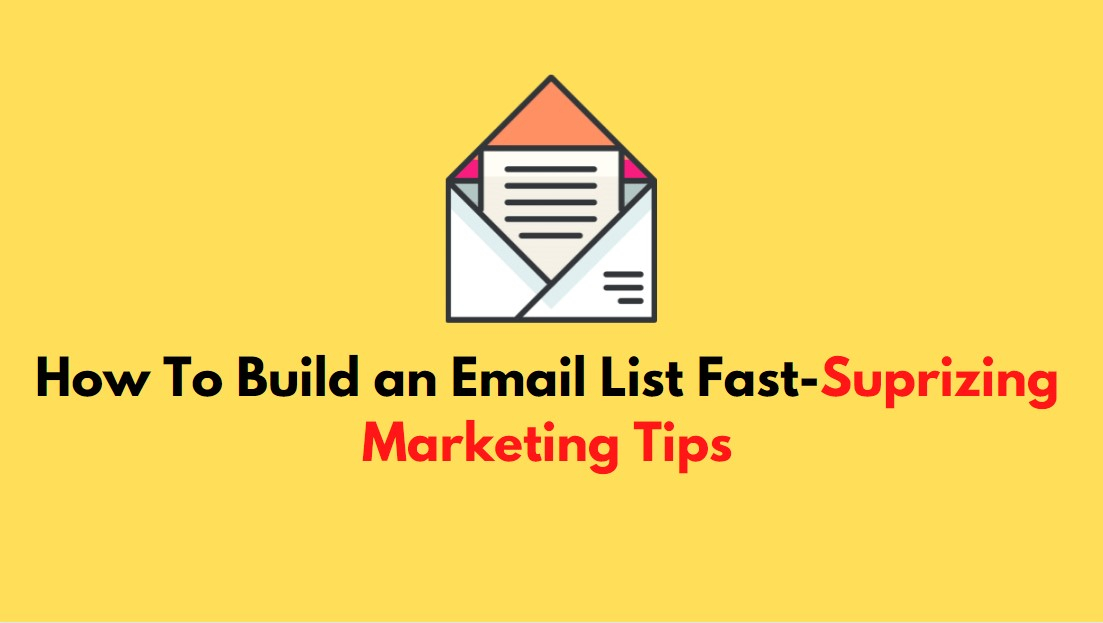 How to build a email list fast